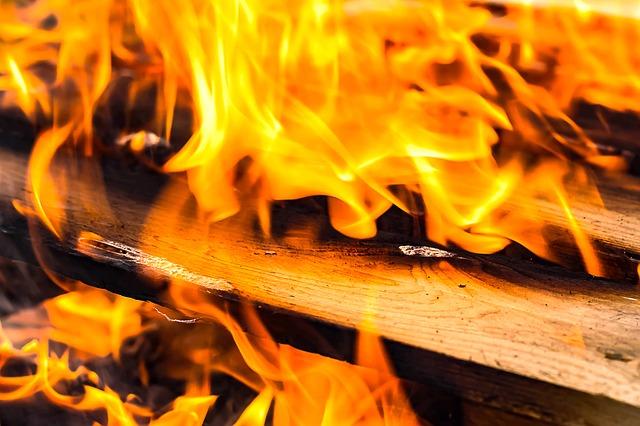 Wood burning.