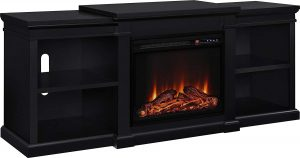 Best electric fireplace TV stand: Ameriwood Home Manchester.
