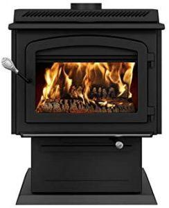 Best Wood Burning Stove: Drolet HT3000 on Pedestal.