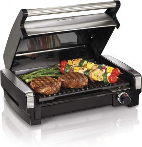 Best Indoor Grill: Hamilton Beach Electric Indoor Searing Grill.