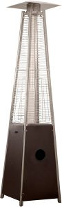 Best Outdoor Heater: Hiland Pyramid.