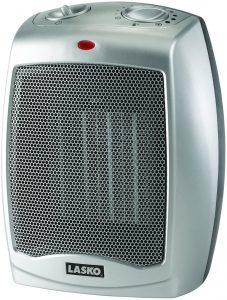 Lasko Ceramic Portable Space Heater, Silver 754200.