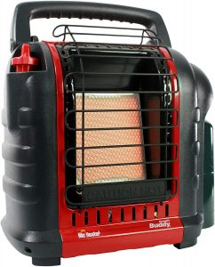Best Tent Heater: Mr. Heater Buddy Portable Propane Radiant Heater.