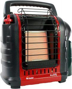 Best Tent Heater: Mr. Heater Buddy Portable Propane Radiant Heater.