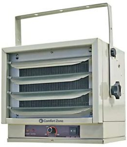 Comfort Zone CZ220 Fan-Forced Ceiling Mount Heater with Dual Knob Controls.