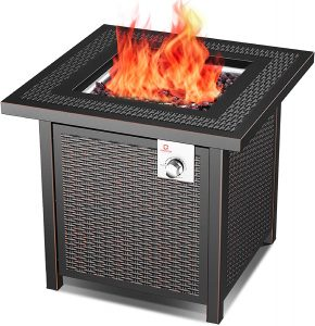 OT QOMOTOP Outdoor Propane Fire Pit Table.