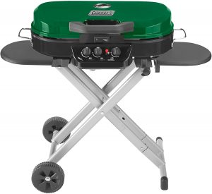 Coleman RoadTrip 285 Portable Stand-Up Propane Grill.