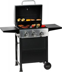 MASTER COOK 3 Burner BBQ Propane Gas Grill.