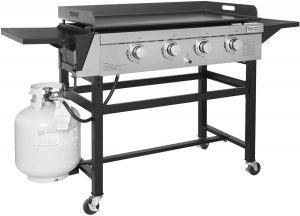 Royal Gourmet GB4001 4-Burner Propane Gas Grill Griddle Outdoor Flat Top.