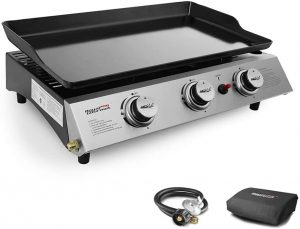 Royal Gourmet PD1300 Portable 3-Burner Propane Gas Grill Griddle.