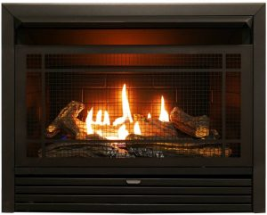 Duluth Forge Vent Free Dual Fuel Ventless Gas Fireplace Insert.